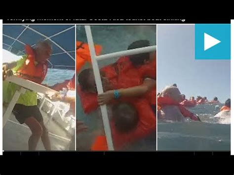 boat sinking costa rica terrifying moment of fatal costa rica tourist boat sinking