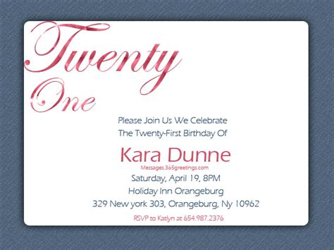 21st invitation templates 21st birthday invitations 365greetings