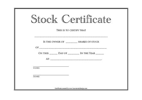 stock certificate template word 41 free stock certificate templates word pdf free