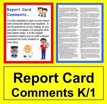 reprt card comment template report card comments labels 60 comments beginning
