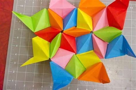 How To Make An Origami Dodecahedron - modular origami how to make a truncated icosahedron