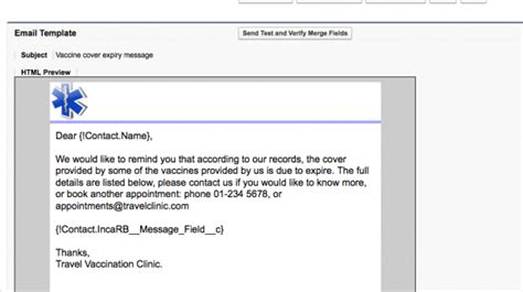 php html email template patient reminders inca clinic help