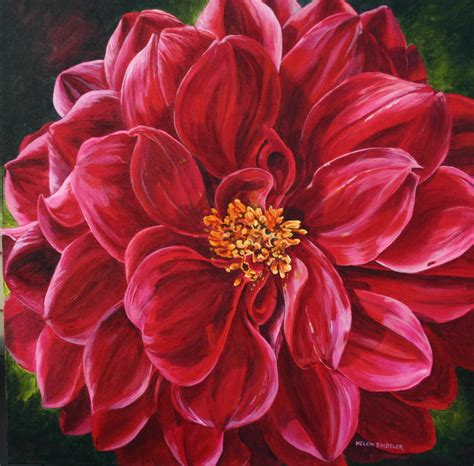 how to paint acrylic on canvas flowers acrylic painting for beginners step by step