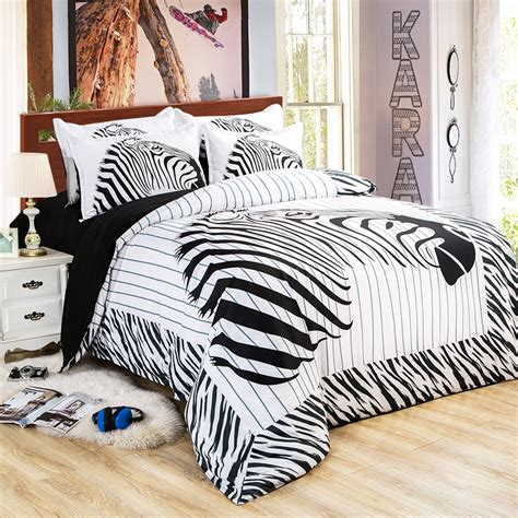 white black zebra bedding bedding set king queen twin