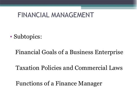 Mba In Financial Management by Financial Management Term Course For Non Finance