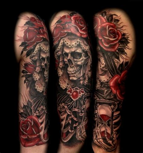 50 drop dead gorgeous santa muerte tattoos page 2 of 5