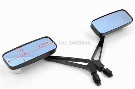 8mm 10mm Aluminum Motorcycle Rectangle Rearview Side Mirror Universal cnc aluninum motorcycle mirror moto rearview mirror