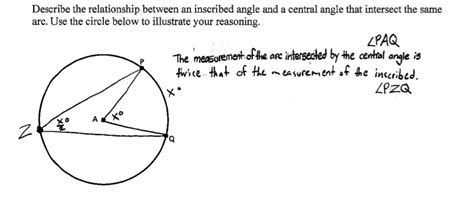 Central And Inscribed Angles Worksheet by Central And Inscribed Angles