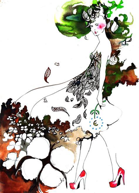 fashion illustration nature ameliehegardt earthday nature fashion illustration