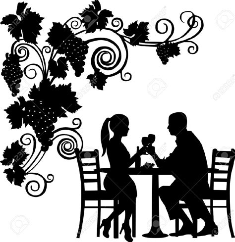 dinner silhouette romantic dinner date clipart www pixshark com images