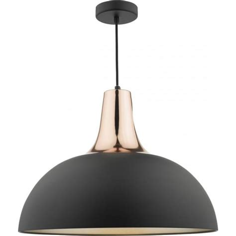 modern ceiling lights toronto table ceiling pendant with copper lined black shade
