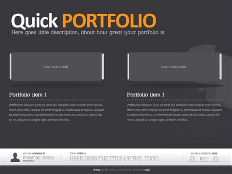 Dark Powerpoint Template By Alanmolnar Graphicriver A Template In Powerpoint