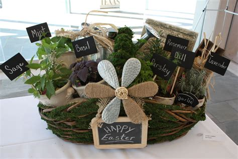 herb filled moss basket diy gift idea