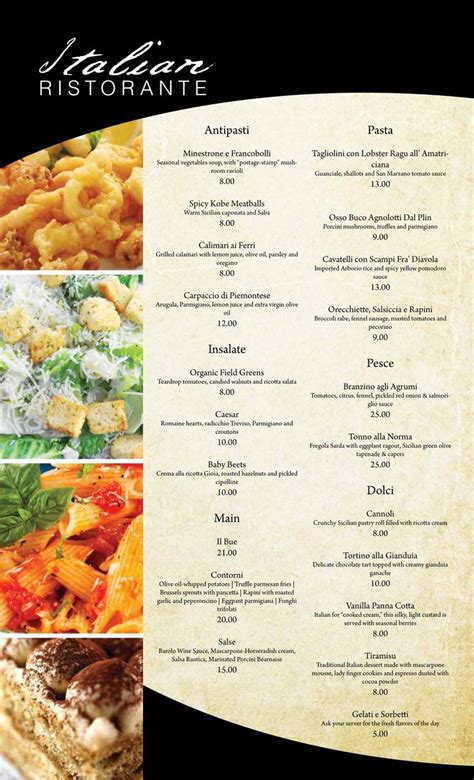 menu ideas italian restaurant menu design italian restaurant italian restaurants menu
