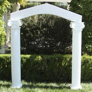 wedding arches and columns columns with arch amico mayko wedding