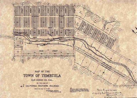 map of temecula temecula townsite town temecula walking tours
