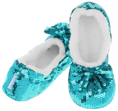 snoozies sequin slippers bling ballerina sequin snoozies slippers uk 3 4 5 6