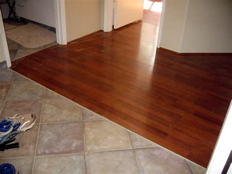 mixture of woof and tile floors laminate tile to wood floor transition home design ideas