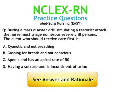 Answers To Questions For Nurses by Med Surg Nursing Practice Questions With Answers And Rationales Http Www Nursebuff Nclex
