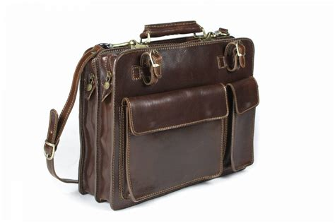 rivello italian leather classic work bag luggage city