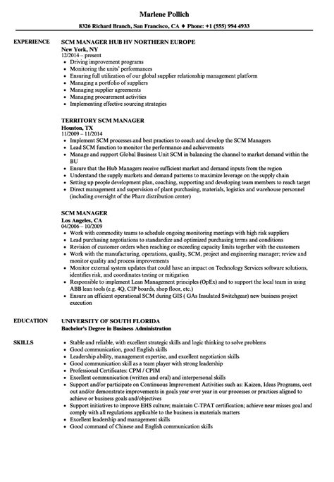 scm format manager resume scm resume format resume template easy http www 123easyessays