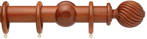 extra long wooden curtain poles opus 35mm wood curtain pole natural mahogany twisted