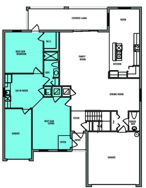 house plans with separate living quarters liberation new home plan in river strand manors at the