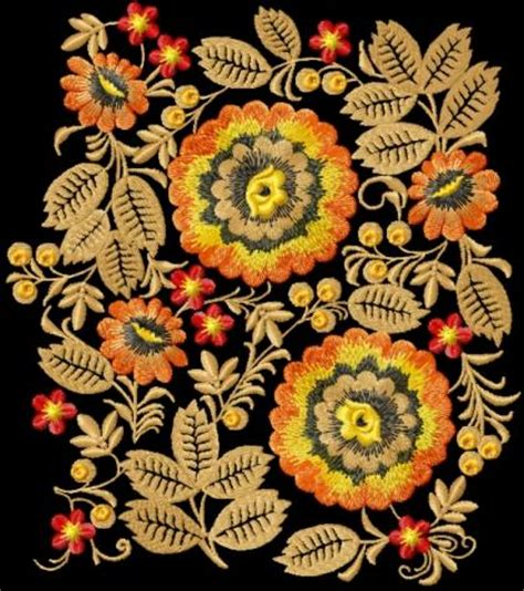 embroidery design motifs advanced embroidery designs wild flowers decoration motif
