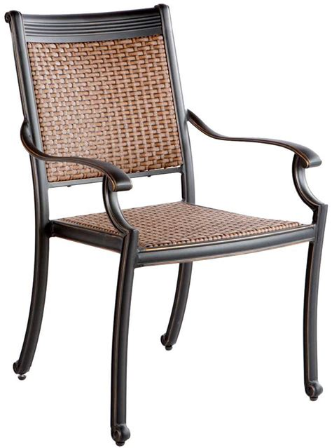 Restaurant Patio Chairs Stackable And Cheap by Alfresco Home Pilot Cast Aluminum Wicker Stackable Dining