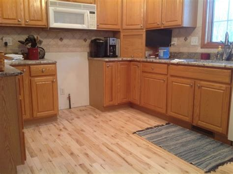 what color wood floor goes with oak cabinets maple floor pine trim oak cabinets