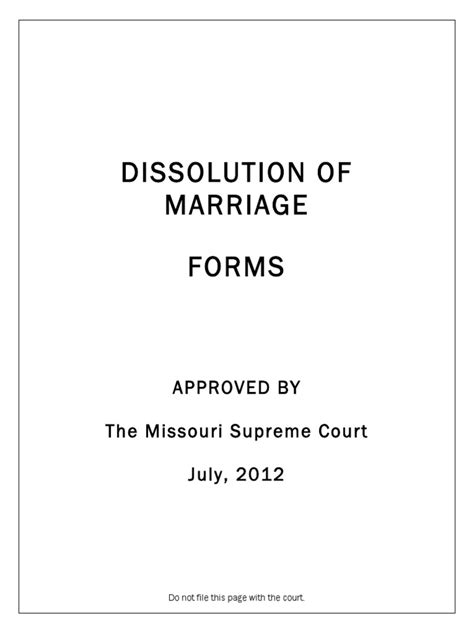Dissolution Of Marriage Records Florida Missouri Dissolution Of Marriage Forms Package Docshare Tips