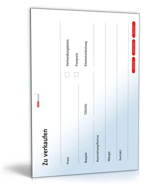 Verkaufsanzeige Auto Vorlage kfz verkaufsanzeige vorlage zum download