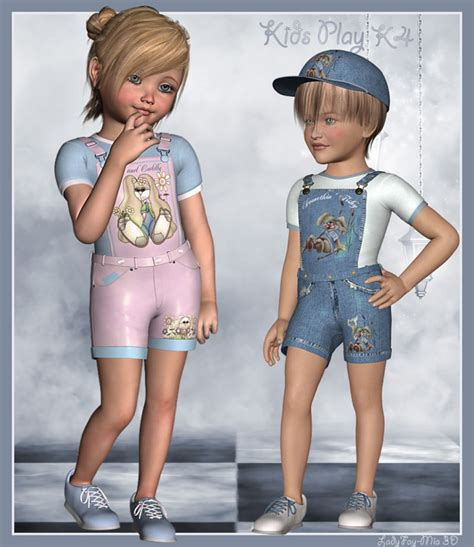 3d Kid play k4 3d models and 3d software by daz 3d