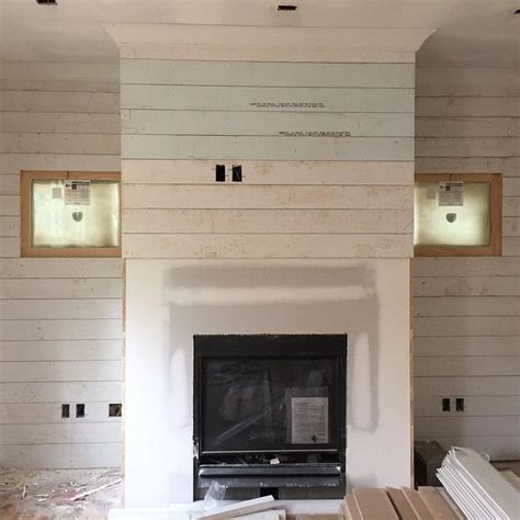 shiplap over concrete 1000 ideas about fireplace wall on pinterest fireplaces