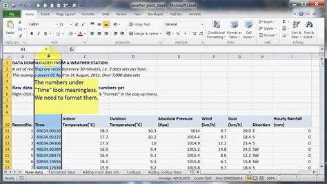 format excel data as table lesson 01 excel 2010 pivot tables the raw data and how