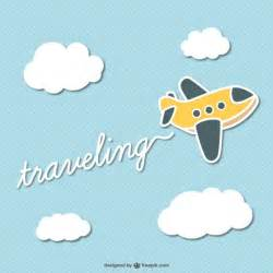 traveling cartoon plane vector vector free download