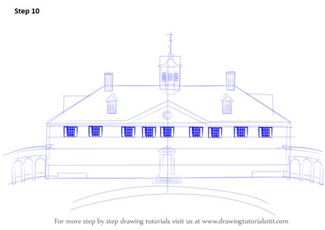 mt vernon architectural drawing with floor plan of step by step how to draw mount vernon