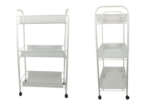 Bathroom Storage Trolley White Bathroom Storage Trolley 3 Tier Toiletry Linen Cart