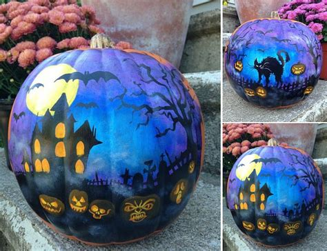 painted pumpkins 25 awesome painted pumpkin ideas for halloween and beyond