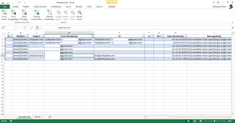 Gmail Spreadsheet by Excel Add In For Gmail