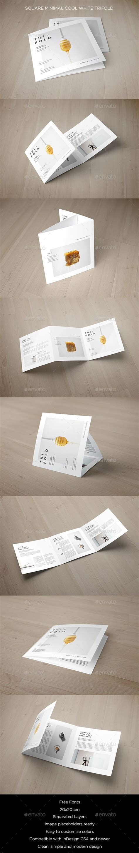 cool brochure templates square minimal cool white trifold postcards brochure