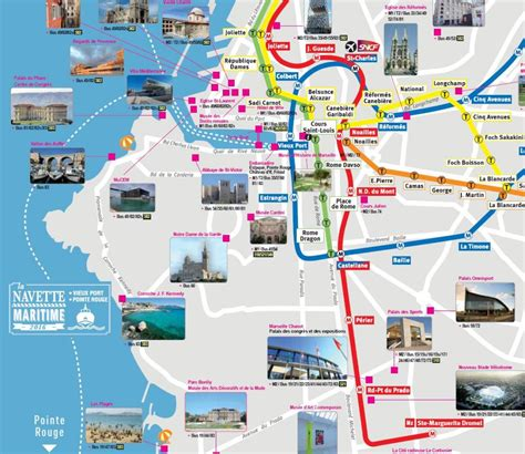 sightseeing map marseille tourist attractions map marseille sightseeing