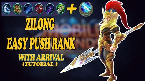 tutorial zilong push rank enak banget pake ini hero zilong tutorial
