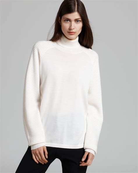 Sweater White theory sweater rylin turtleneck in white lyst
