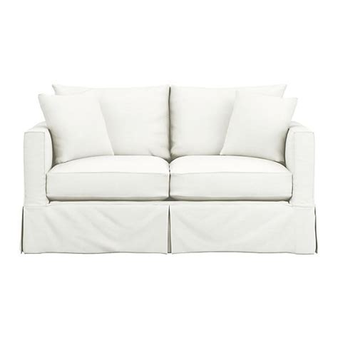 sleeper sofa slipcover full willow full sleeper sofa snow crate and barrel