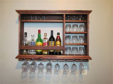 wall bar mahogany stain minimalist style 3 foot by 2