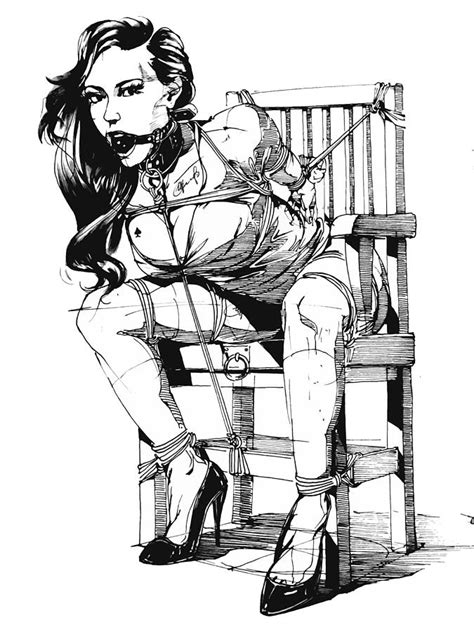 Bondage Drawings | chairtied painting by yury fadeev