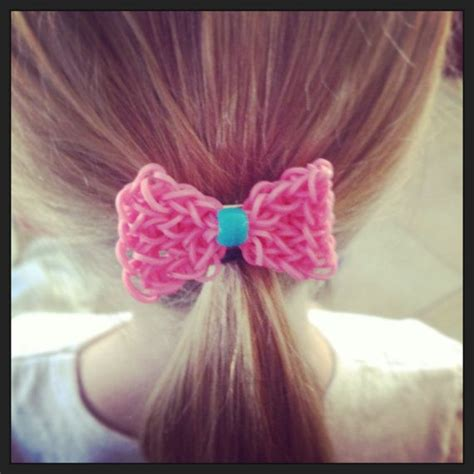 Hair Accessories To Make With Loom Bands | rainbow loom hair bow hair clip by bcsbracelets