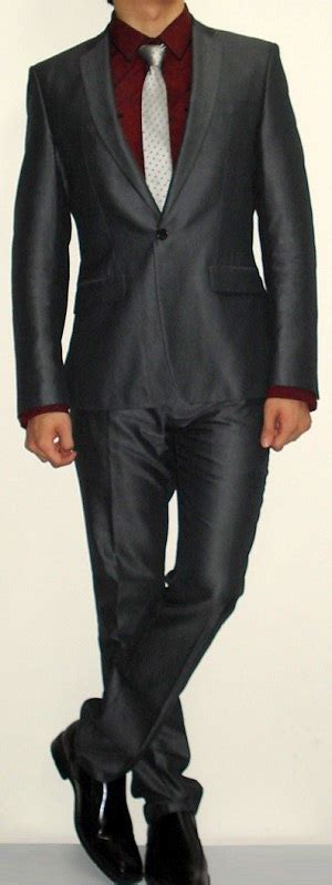 Sweater Pocket Maroon Ns shirt for grey suit dress yy