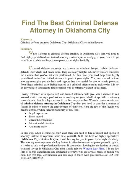 Find The Criminal Ppt Find The Best Criminal Defense Attorney In Oklahoma City Powerpoint Presentation Id 7412854